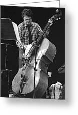 Charlie Haden Takes Care Of His Doublebass Greeting Card by Philippe Taka