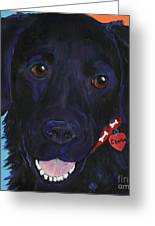 Charlie Greeting Card by Pat Saunders-White