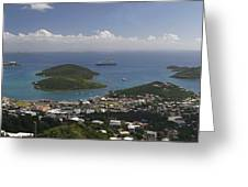 Charlotte Amalie From Above Greeting Card by Gary Lobdell