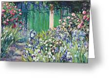 Charmed Entry - Monet Greeting Card by L Diane Johnson