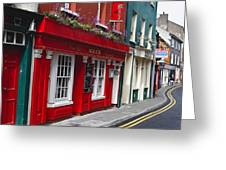 Charming Narrow Street In Kinsale Greeting Card by George Oze
