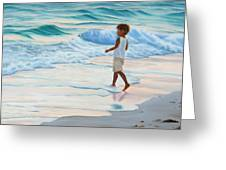 Chasing The Waves Greeting Card by Lea Novak