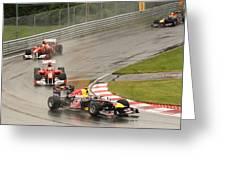 Chasing Vettel Greeting Card by Art Ferrier