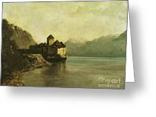 Chateau De Chillon Greeting Card by Gustave Courbet