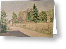 Chateau De Comblat Greeting Card by Paul Signac