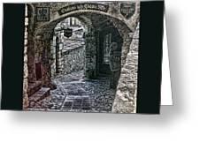 Chateau De La Chevre D'or Greeting Card by Tom Prendergast