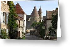Chateauneuf en Auxois Burgundy France Greeting Card by Marilyn Dunlap