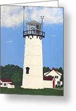 Chatham Lighthouse Tower Greeting Card by Frederic Kohli