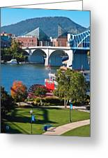 Chattanooga Landmarks Greeting Card by Tom and Pat Cory