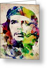 Che Guevara Urban Watercolor Greeting Card by Michael Tompsett