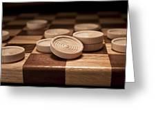 Checkers II Greeting Card by Tom Mc Nemar