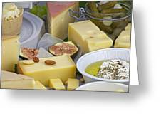 Cheese Plate Greeting Card by Joana Kruse