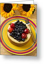Cheesecake With Fruit Greeting Card by Garry Gay