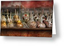 Chef - Caramel Apples For Sale Greeting Card by Mike Savad