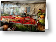 Chef - Vegetable - Jersey Fresh Farmers Market Greeting Card by Mike Savad