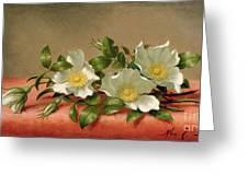 Cherokee Roses Greeting Card by Martin Johnson Heade