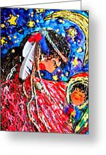 Cherokee Trail Of Tears Mother And Child Greeting Card by Laura  Grisham