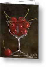 Cherries Jubilee Greeting Card by Sheryl Heatherly Hawkins