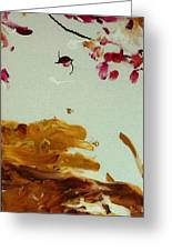 Cherry Blossoms IIi Greeting Card by Luz Elena Aponte