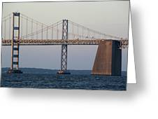 Chesapeake Bay Bridge - Maryland Greeting Card by Brendan Reals
