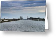 Chesapeake Bay Bridge Maryland Greeting Card by Brendan Reals