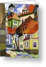 Chesky Krumlov Masna Street 1 Greeting Card by Yuriy  Shevchuk