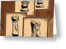 Chess Pieces Greeting Card by Tom Mc Nemar