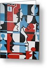 Chessmen Greeting Card by Nicholas Martori