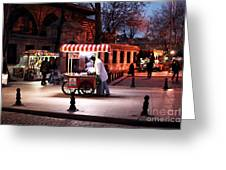 Chestnuts At Night Greeting Card by John Rizzuto