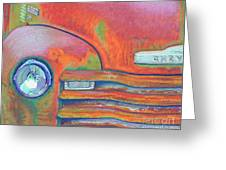 Chevy Rust Greeting Card by Tracy L Teeter