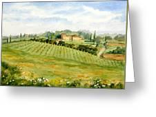 Chianti Villa Greeting Card by Vikki Bouffard