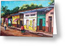 Chiapas Neighborhood Greeting Card by Candy Mayer