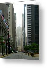 Chicago Architecture - 17 Greeting Card by Ely Arsha