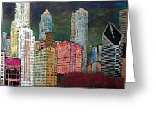 Chicago Cityscape Greeting Card by Char Swift