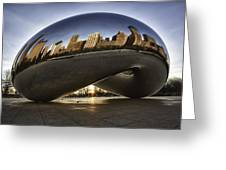 Chicago Cloud Gate At Sunrise Greeting Card by Sebastian Musial