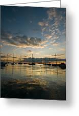 Chicago Harbor Sunrise Greeting Card by Steve Gadomski