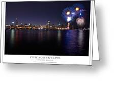 Chicago Lakefront Skyline Poster Greeting Card by Steve Gadomski