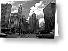 Chicago Greeting Card by Miranda  Miranda