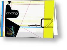 Chicago Greeting Card by Naxart Studio