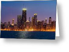 Chicago Panorama Greeting Card by Donald Schwartz