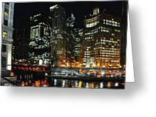 Chicago River Crossing Greeting Card by Jeff Kolker