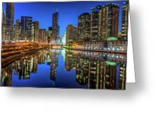 Chicago River East Greeting Card by Steve Gadomski