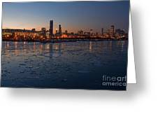 Chicago Skyline At Dusk Greeting Card by Sven Brogren