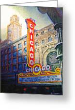Chicago Theater Greeting Card by Michael Durst
