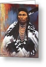 Chief Joseph Greeting Card by Harvie Brown
