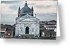 Chiesa Del Redentore Venice Greeting Card by Tom Prendergast