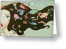 Childhood Memories Greeting Card by Dania Piotti