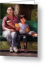 Children - Balanced Meal Greeting Card by Mike Savad