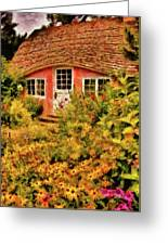 Children - The Children's Cottage Greeting Card by Mike Savad