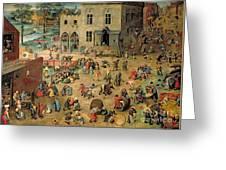 Children's Games Greeting Card by Pieter the Elder Bruegel
